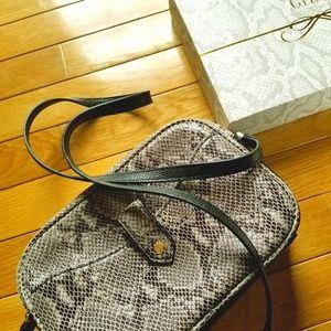 G.I.L.I. Leather Crossbody Bag Snake